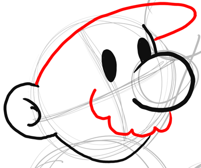 step 5 drawing classic mario bros or paper mario instructions how