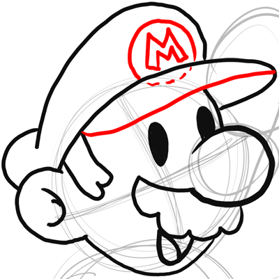 step 7 drawing classic mario bros or paper mario instructions how