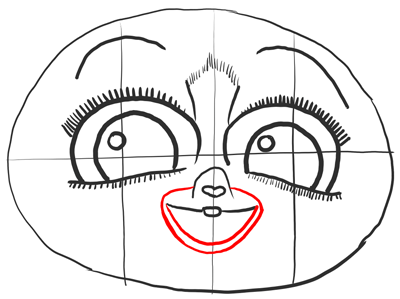 Step 9 - Drawing Mort from Penguins of Madagascar in Easy