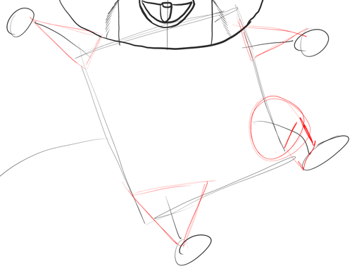 Step 12 - Drawing Mort from Penguins of Madagascar in Easy