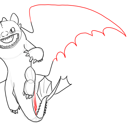 Step 16 Drawing Toothless Night Fury Dragon Tutorial In Steps How