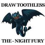 How to Draw Toothless Night Fury Dragon from How to Train Your Dragon