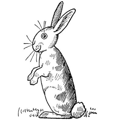 cartoon rabbit outline
