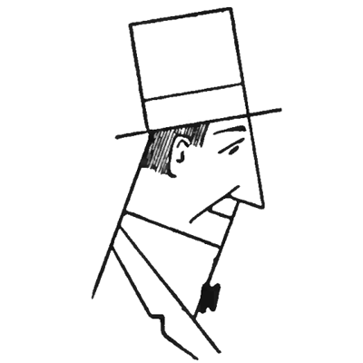 Finished Easy Man Top Hat Square How To Draw Step By