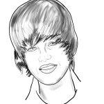 How to Draw Justin Bieber with Step by Step Drawing Lesson