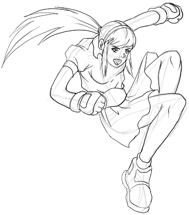 Step 3 How To Draw Anime And Manga Action Poses Lesson How To Draw