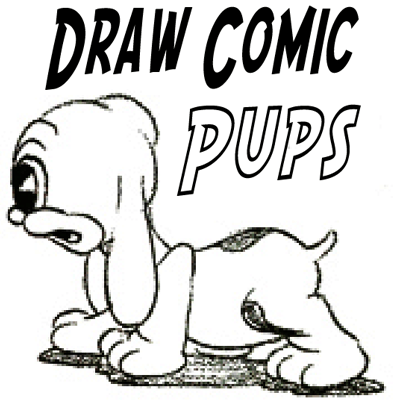 how to draw a adorable cartoon puppy step by step