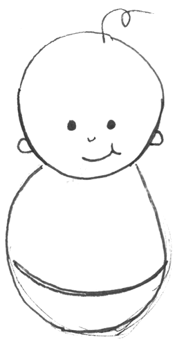 Step 3 Drawing Simple Cartoon Baby With Easy Drawing Lesson For Kids
