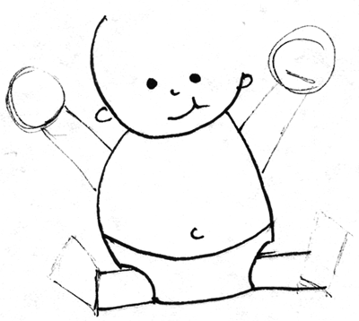 Step 5 Drawing Simple Cartoon Baby With Easy Drawing Lesson For Kids