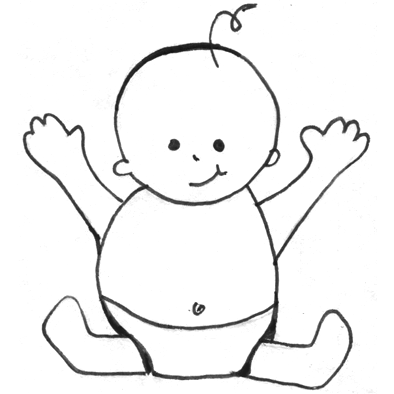 drawing babies toddlers archives how to draw step by step