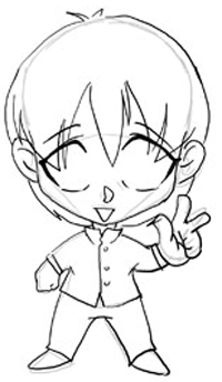 Step 3 Drawing Chibis Boys Anime Tutorial How To Draw Step By