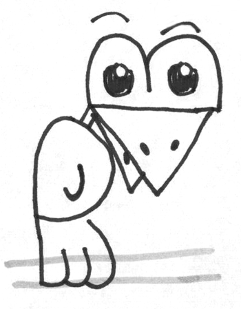 Step 5 Drawing Cartoon Birds with Alphabet Letter B for Kids