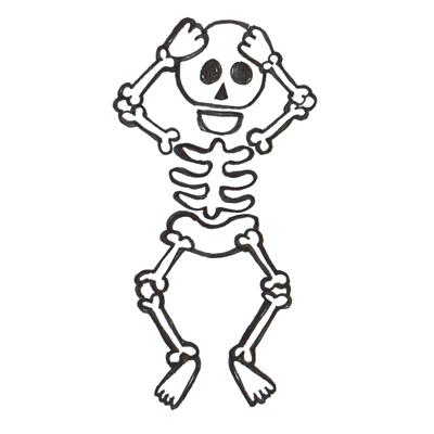 Easy on How To Draw Cartoon Skeletons With Step By Step Drawing Tutorial For