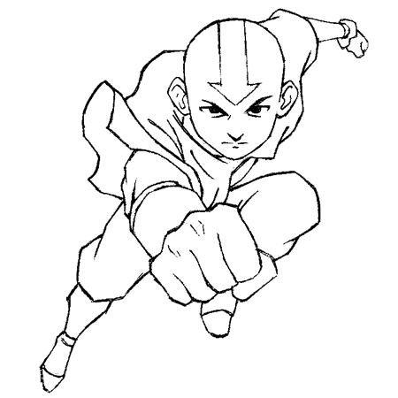 How to draw aang from avatar the last airbender drawing lesson