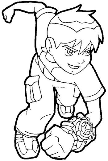 finished drawing of ben from ben 10 cartoon