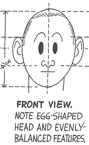 Draw Cartoon Faces / Heads from Front View