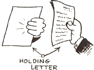 Draw Hands Holding Letters