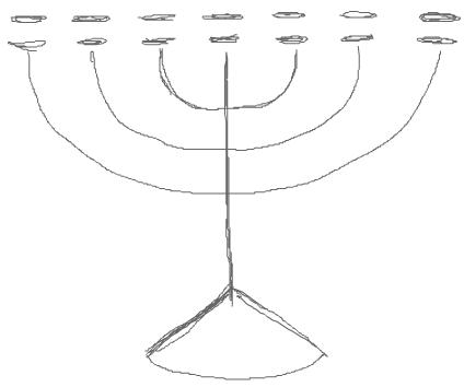 Step 2 : Drawing Hanukkah Menorahs with Easy Steps