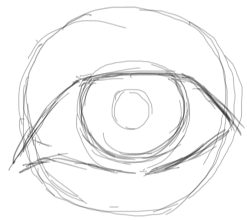 Step 3 : Drawing Realistic Eyes with Simple Steps