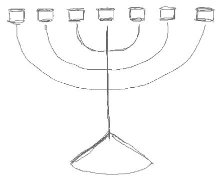 Step 3 : Drawing Hanukkah Menorahs with Easy Steps