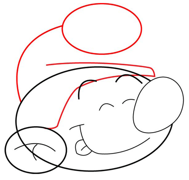 Step 3 : Drawing Smurfs Faces