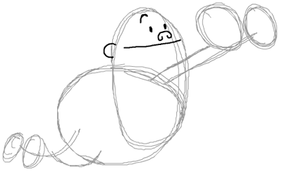 Step 4 : Drawing Captain Underpants in Easy Steps