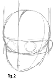 Step 4 Drawing Three Quarters Views of the Anime Head