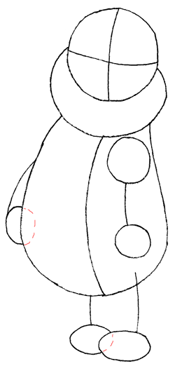 Step 4 Guide to Drawing Winnie the Pooh