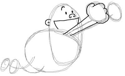 Step 5 : Drawing Captain Underpants in Easy Steps