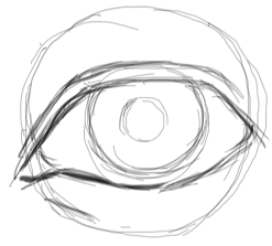 how to draw easy realistic eyes