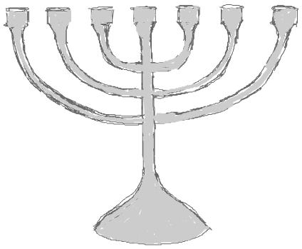 Step 5 : Drawing Hanukkah Menorahs with Easy Steps