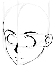 Step 4 How to Draw 3/4 Views of the Anime Manga Face