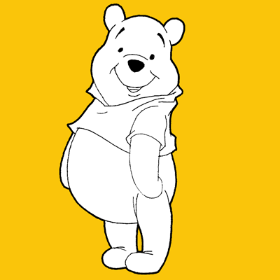 How to Draw Winnie the Pooh with Simple Steps Lesson for Kids