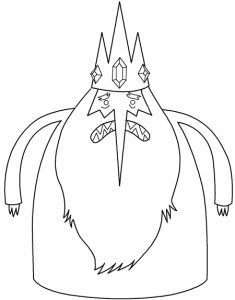 Step 6 Instructions for Drawing Ice King from Adventure Time