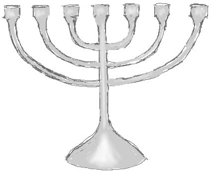 Step 6 : Drawing Hanukkah Menorahs with Easy Steps