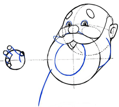 Step 6 : Drawing Santa Clause - Old Saint Nick with Easy Christmas Lesson