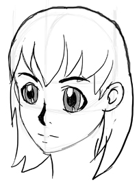 Step 6 How to Draw 3/4 Views of the Anime Manga Face