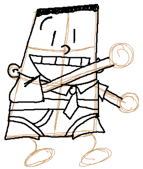 Step 7 : How to Draw George Beard from Captain Underpants Lesson