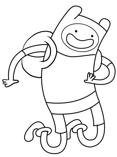 step 7 Drawing Fin the Human Boy from adventure time