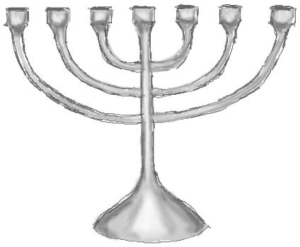 Step 7 : Drawing Hanukkah Menorahs with Easy Steps