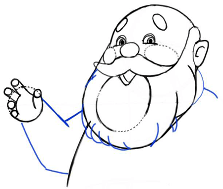 Step 7 : Drawing Santa Clause - Old Saint Nick with Easy Christmas Lesson