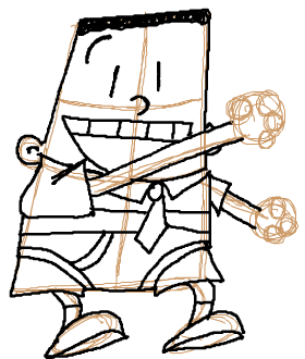 Step 8 : How to Draw George Beard from Captain Underpants Lesson