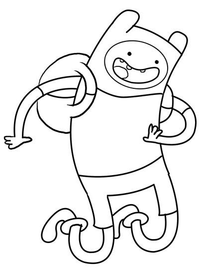 step 8 Drawing Fin the Human Boy from adventure time