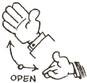 Drawing Cartoon Comic Hands Open Palmed
