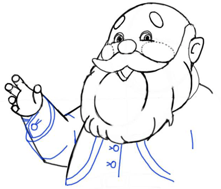 Step 8 : Drawing Santa Clause - Old Saint Nick with Easy Christmas Lesson