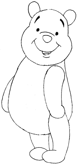 Step 8 Drawing Winnie the Pooh with Easy Guide