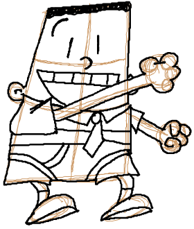 Step 9 : How to Draw George Beard from Captain Underpants Lesson