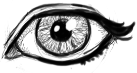 Step 9 : Drawing Realistic Eyes with Simple Steps