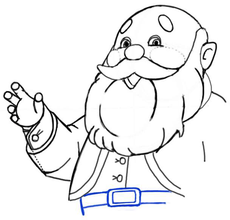 Step 9 : Drawing Santa Clause - Old Saint Nick with Easy Christmas Lesson
