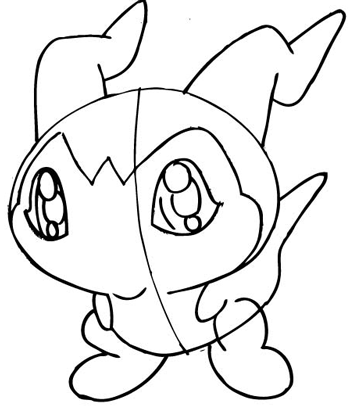 Step 10 Drawing DemiVeemon from Digimon with Easy Steps
